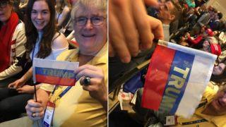 Трампа забросали российскими флагами в здании конгресса США